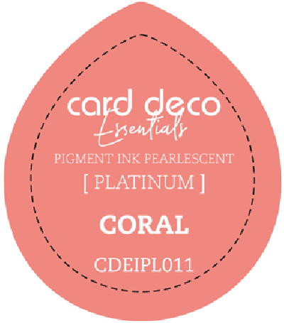 Pigment ink coral fast drying pearlescent card deco ess
