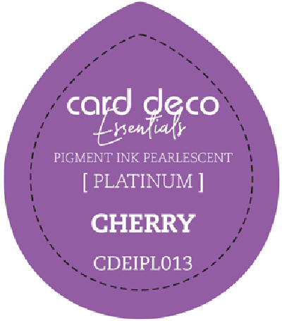 Pigment ink cherry fast drying pearlescent card deco ess
