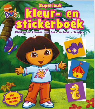 Dora Superleuk Kleur Stickerboek