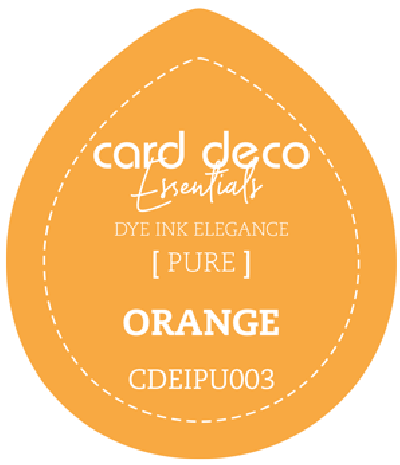 Dye Ink orange fade resistant card deco essentials