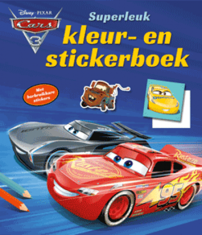 Cars superleuk kleur- en stickerboek