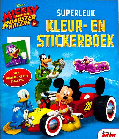 Mickey and The Roadsters Racers Superleuk kleur- en stickerboek
