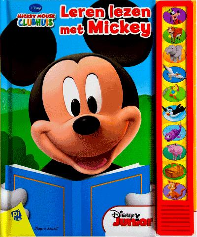 Geluidboek, leren lezen met Mickey