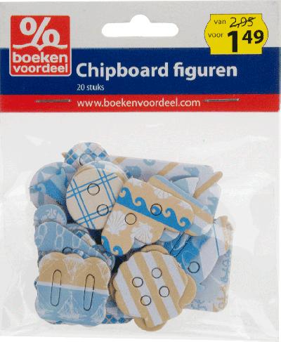 Chipboard figuren Maritiem Zand-Aqua