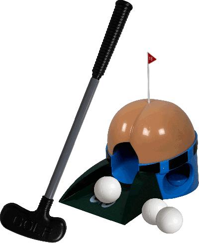 Golfset kont, met 6 scheetgeluiden