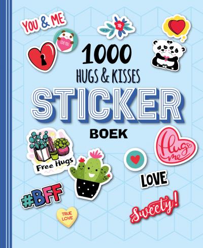 1000 Hugs & kisses sticker boek