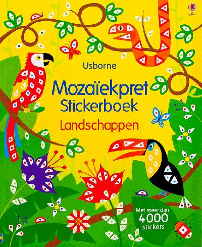 Mozaiekpret Stickerboek Landschappen