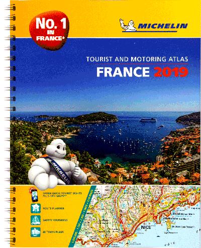 Michelin Frankrijk 2019 a4 spiraalbinding