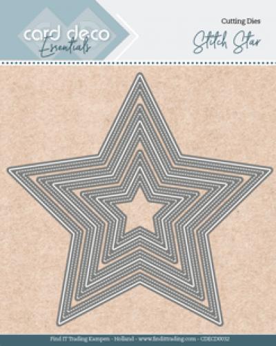 Snijmal Card Deco stitch star