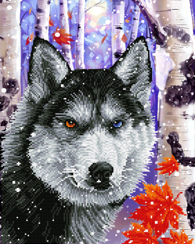 Diamond Dotz Forest Wolf