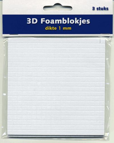 3D foamblokjes 1mm