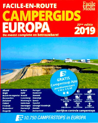 Facile-en-route campergids Europa 2019