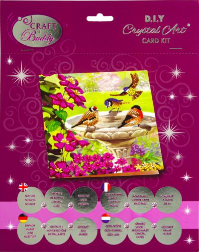 Crystal Card kit A50 birds 18x18cm