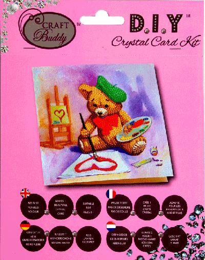 Crystal card kit A16 Teddy 18x18