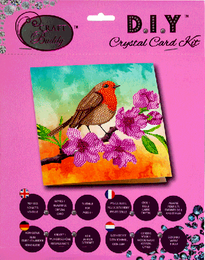 Crystal card kit a18 robin 18x18 cm