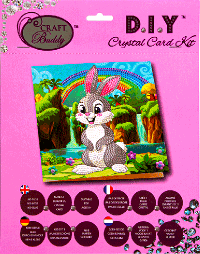 Crystal Card kit A24 Rabbit Wonderland 18x18cm