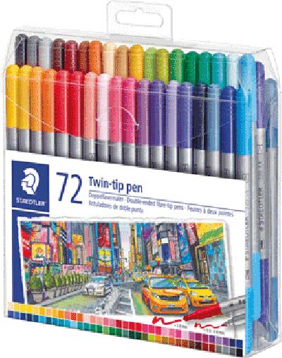 Staedtker viltstift twin-tip pen 72 stuks