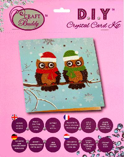 Crystal card kit C5 pair of owls