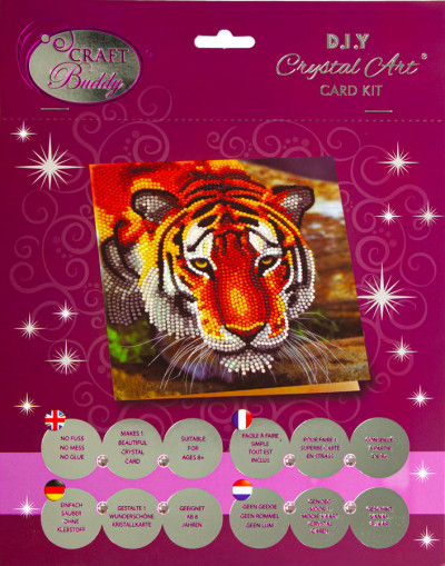 Crystal card kit A40 the tiger 18x18cm