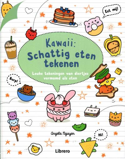 Kawaii: schattig eten tekenen