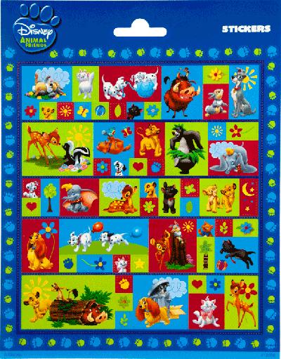Sticker sheet Disney Animal friends
