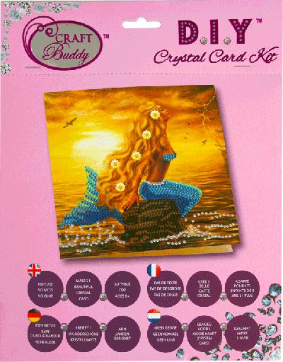 Crystal Card kit A23 Mermaid Dreams 18x18 cm