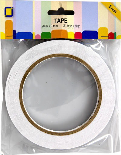 Dubbelzijdig tape 9mm 20meter