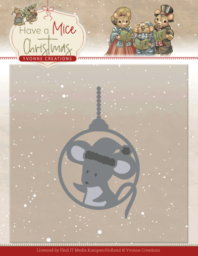 Have a Mice Christmas snijmal mouse bauble an Yvonne Creations