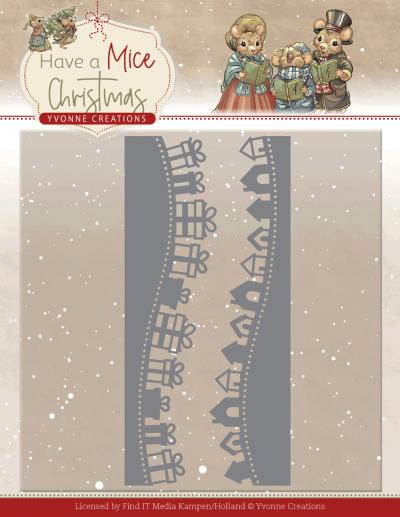 Have a Mice Christmas snijmal gift borders van Yvonne Creations
