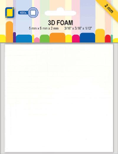 3D Foamblokjes 5x5x2mm