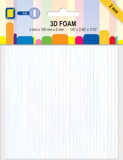 Dubbelzijdig klevend 3D foam lijnen