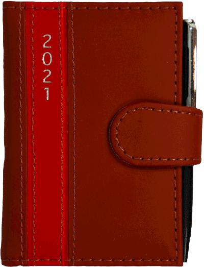 Dagplanner 2021 met pen rood