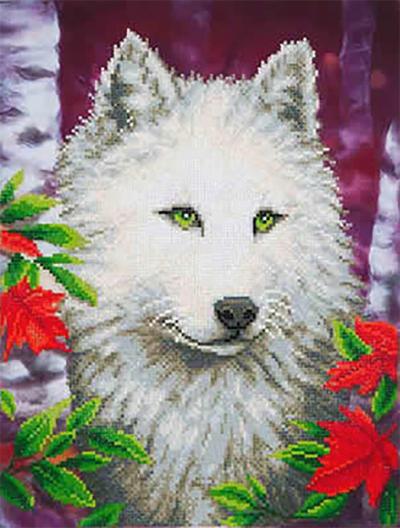 Diamond Dotz White wolf