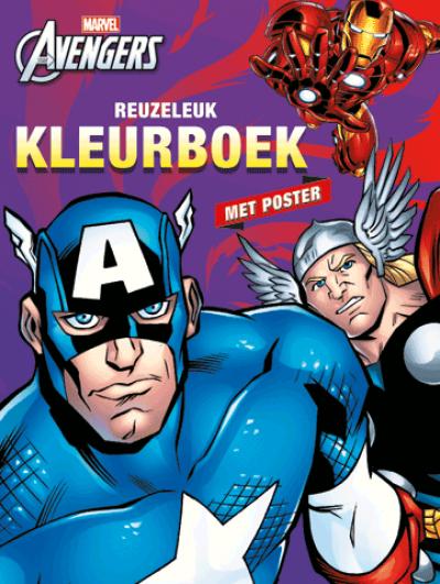 The Avengers Reuzeleuk Kleurboek & Poster