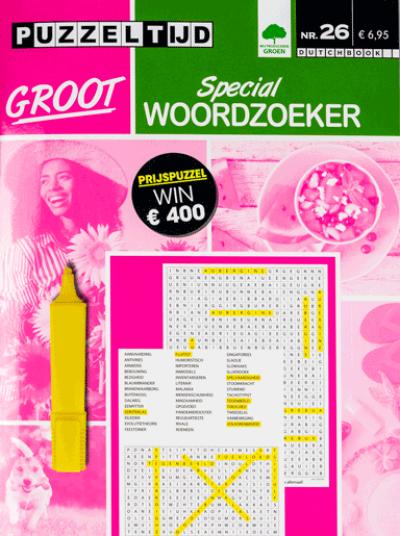 Puzzelboek groot special woordzoekers nr. 026 Puzzeltijd