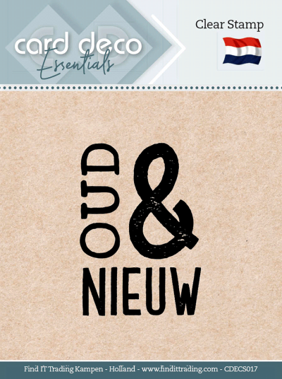 Clear stamp Oud & Nieuw