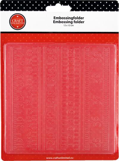 Embossing folder Liniaal