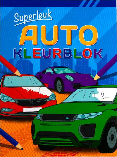 Superleuk auto kleurboek