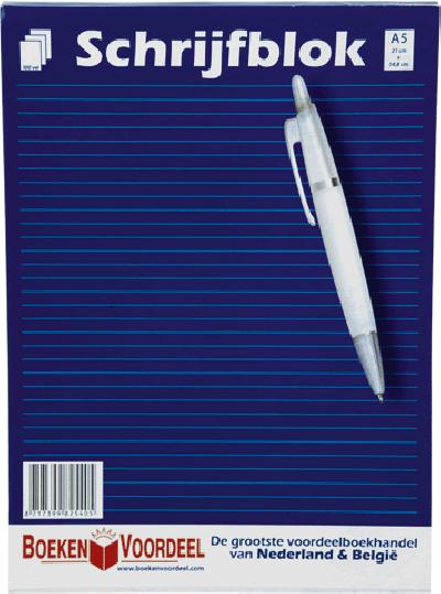 Schrijfblok A5 (Boekenvoordeel)