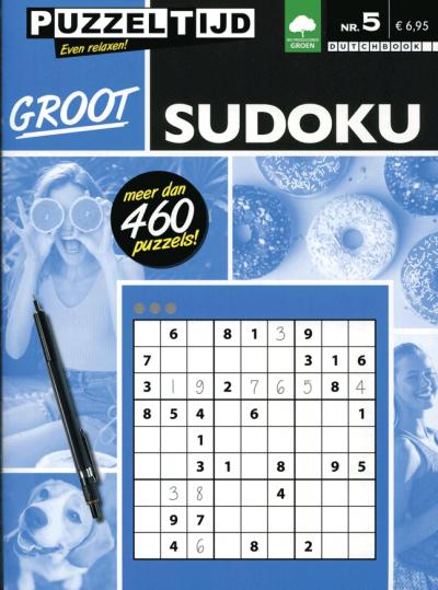 Puzzelboek groot sudoku nr. 5. puzzeltijd