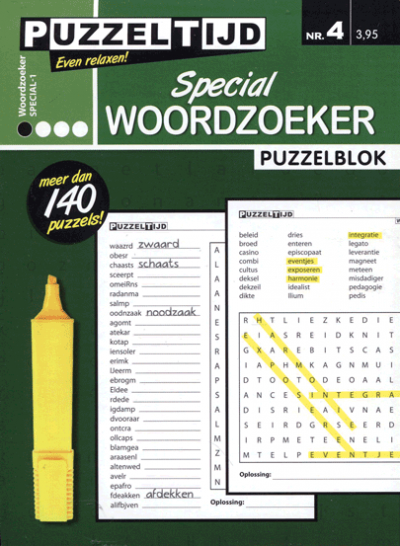 Puzzelblok woordzoeker special 1 punt nr.4