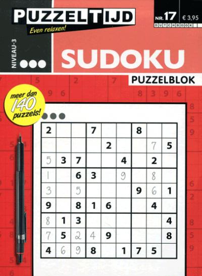 Puzzelblok Sudoku 3 punten nr. 17 Puzzeltijd