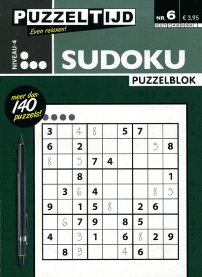 Puzzelblok Sudoku 4 punten nr. 06 Puzzeltijd