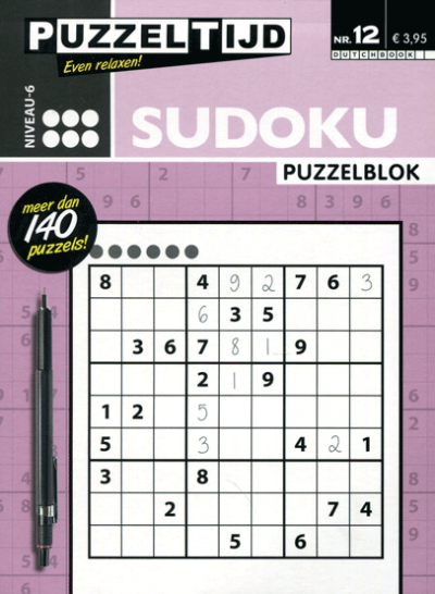 Puzzelblok Sudoku 6 punten nr. 12 Puzzeltijd