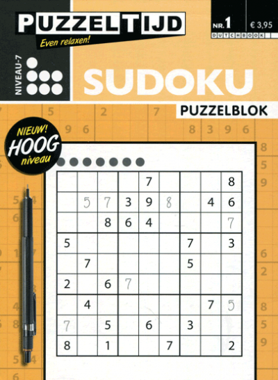 Puzzelblok Sudoku 7 punten nr. 1 Puzzeltijd