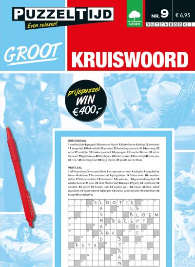 Puzzelboek groot kruiswoord nr. 009 puzzeltijd