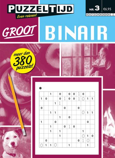 Puzzelboek binair groot nr. 3