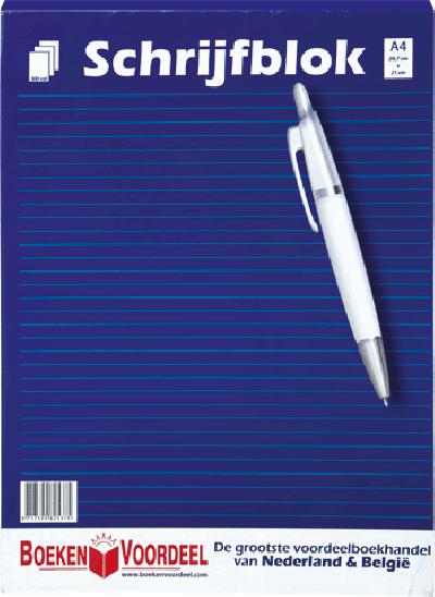 Schrijfblok A4 (Boekenvoordeel)