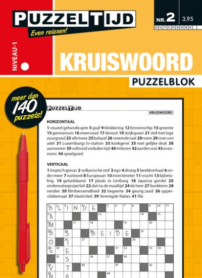 Puzzeltijd Puzzelblok kruiswoord 1 punt nr.2