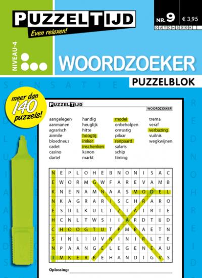 Puzzelblok woordzoeker 4 punt nr.9